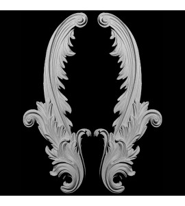 SW-112 Acanthus Leaf Resin Swag Pair