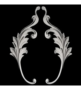 SW-118-EXT Series Acanthus Leaf Resin Swag  Pair with Extension