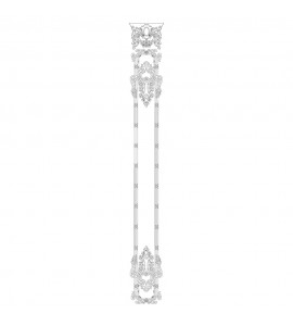 VS-1-5-5 Capitol Shield Top Acanthus Leaf Shield and Leaf With Ribbon And Reed Moulding Versailles Resin Collection