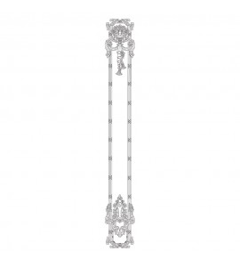 VS-2-5 Floral and Tassel Shield and Leaf With Ribbon And Reed Moulding Versailles Resin Collection