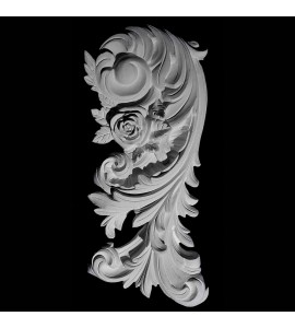 VS-54R Right Acanthus Leaf with Flower Versailles Resin Collection