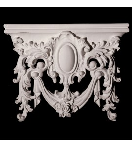 VSS1 Acanthus Leaf Capitol Shield Top for Versailles Resin Collection
