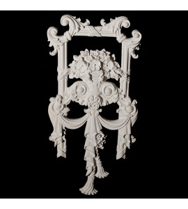 VSS2 Floral and Tassel with leaves and ribbon and reed moulding Versailles Resin Collection