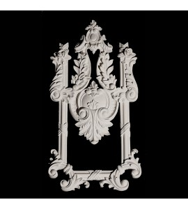 VSS5 Shield and Leaf with Ribbon and Reed Moulding Versailles Resin Collection