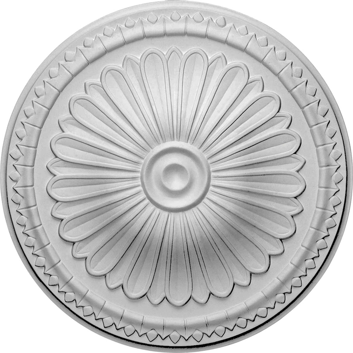 "EM-CM14AX - 15""OD x 1 3/4""P Alexa Ceiling Medallion (Fits Canopies up to 3"")"