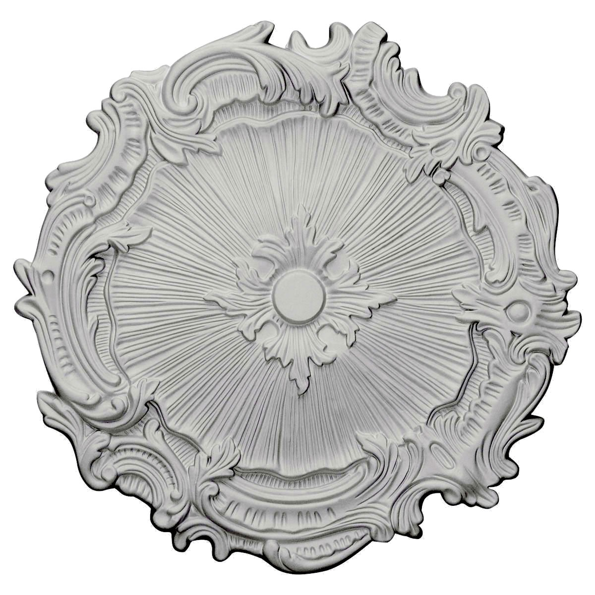 """EM-CM16PL - 16 3/4""""OD x 1 3/8""""P Plymouth Ceiling Medallion (Fits Canopies up to 1 5/8"""")"""