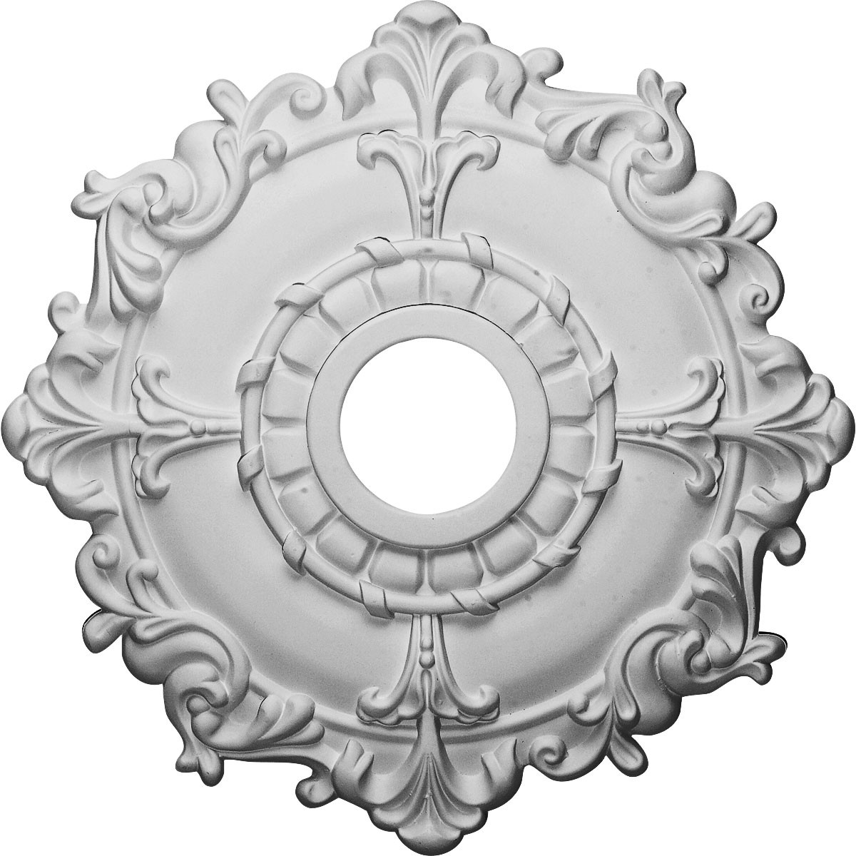 """EM-CM18RL - 18""""OD x 3 1/2""""ID x 1 1/2""""P Riley Ceiling Medallion (Fits Canopies up to 4 5/8"""")"""