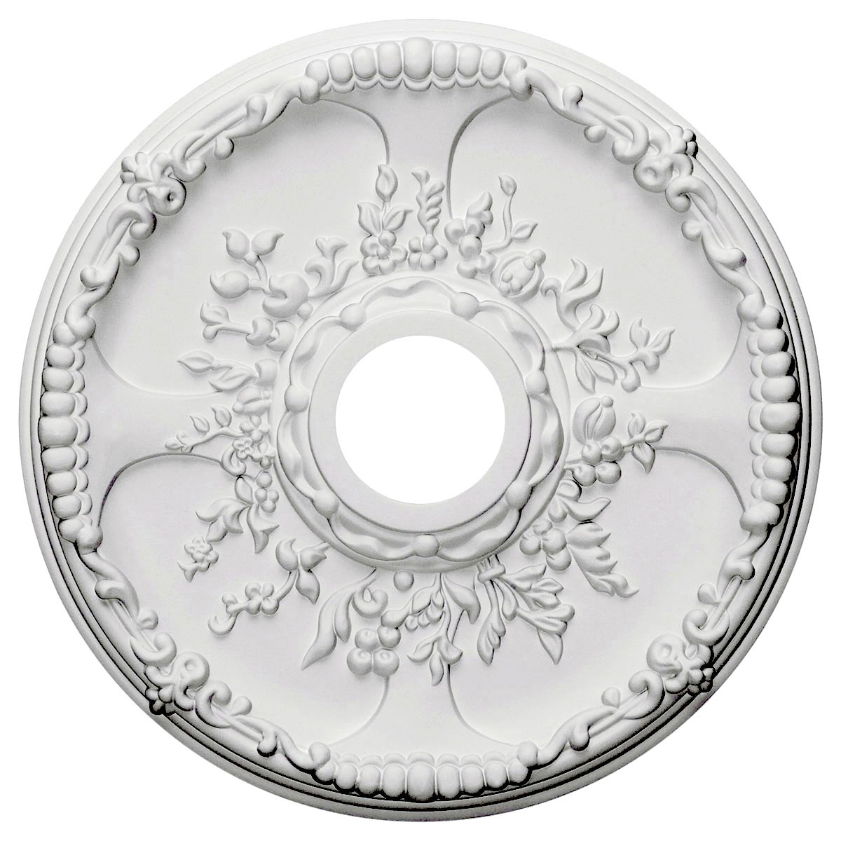 """EM-CM18SE - 18""""OD x 3 1/2""""ID x 1 3/8""""P Antioch Ceiling Medallion (Fits Canopies up to 3 1/2"""")"""