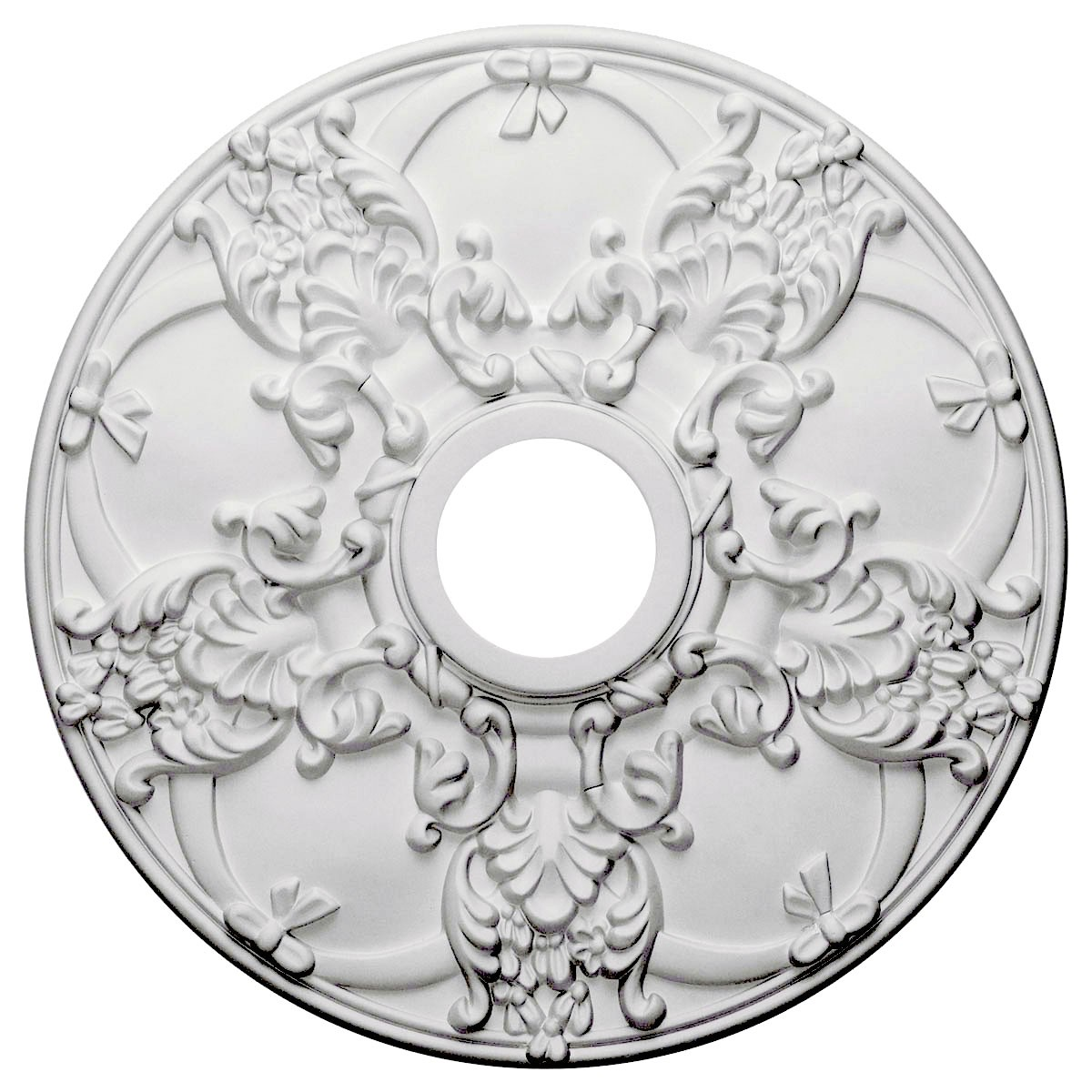"""EM-CM18NO - 18""""OD x 3 1/2""""ID x 1 3/8""""P Norwich Ceiling Medallion (Fits Canopies up to 4 1/2"""")"""