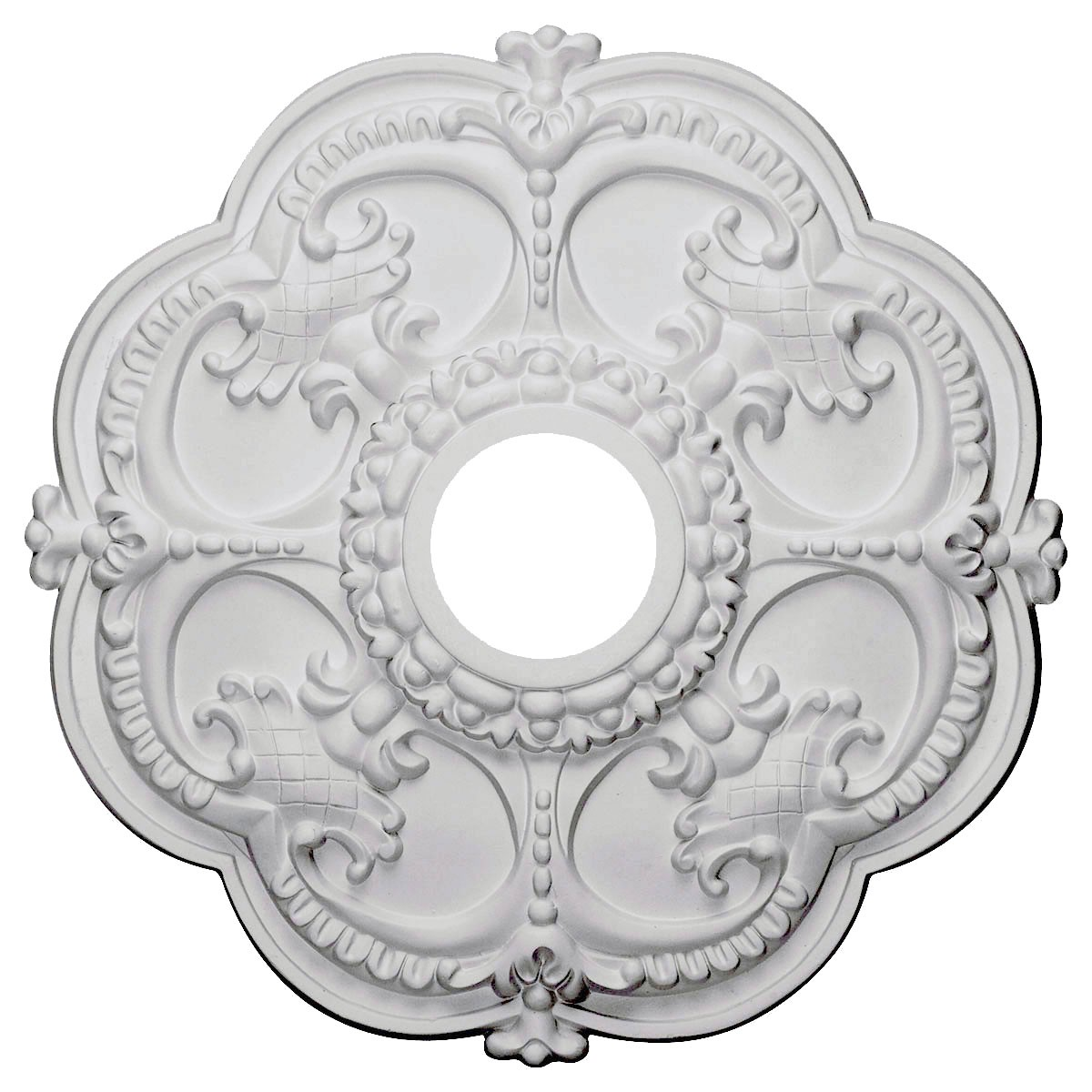 "EM-CM17RO - 18""OD x 3 1/2""ID x 1 1/2""P Rotherham Ceiling Medallion (Fits Canopies up to 3 1/2"")"