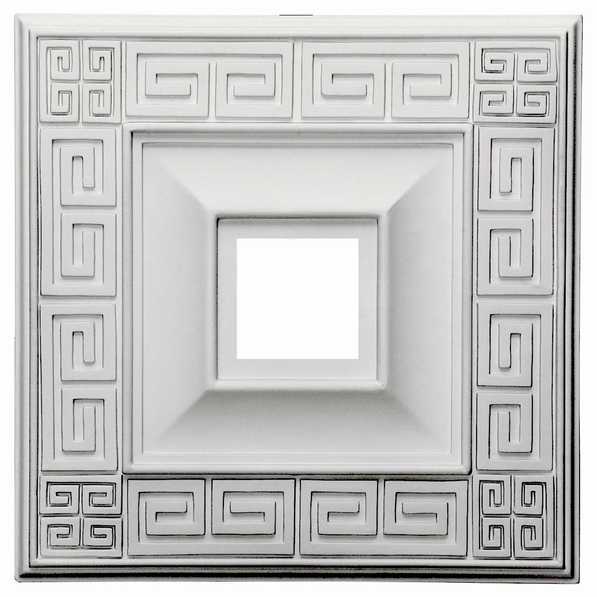 "EM-CM18ER - 18""W x 18""H x 3 1/2""ID x 1 1/8""P Eris Ceiling Medallion (Fits Canopies up to 9 7/8"")"