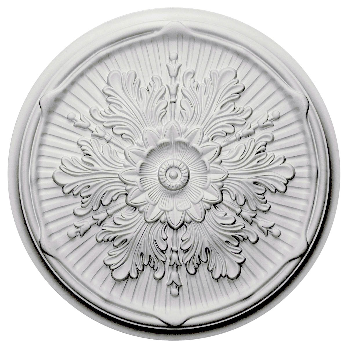 "EM-CM21LU - 21""OD x 2""P Luton Ceiling Medallion (Fits Canopies up to 3 1/2"")"
