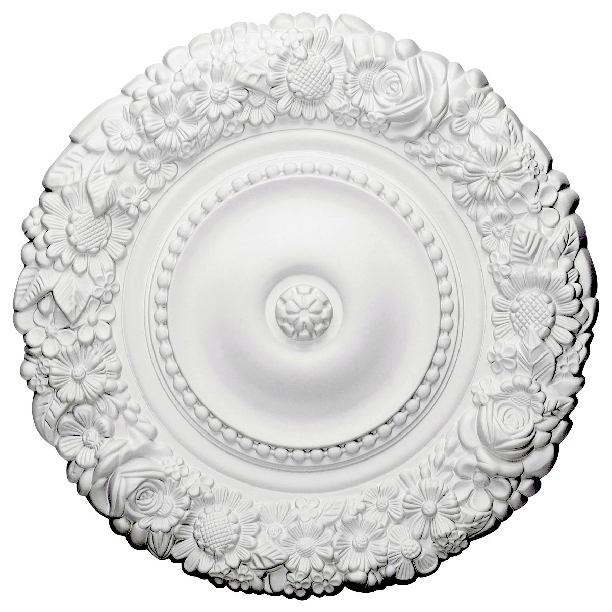 """EM-CM21MA - 21""""OD x 2""""P Marseille Ceiling Medallion (Fits Canopies up to 7 3/8"""")"""
