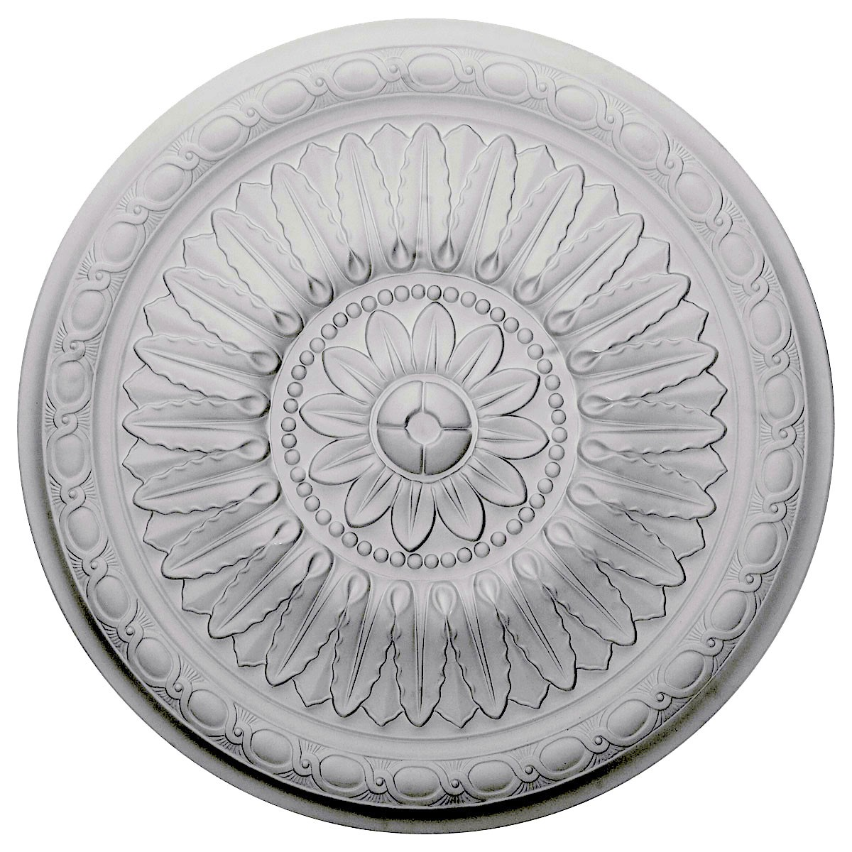 """EM-CM24TE - 24""""OD x 1 5/8""""P Temple Ceiling Medallion (Fits Canopies up to 9 1/4"""")"""