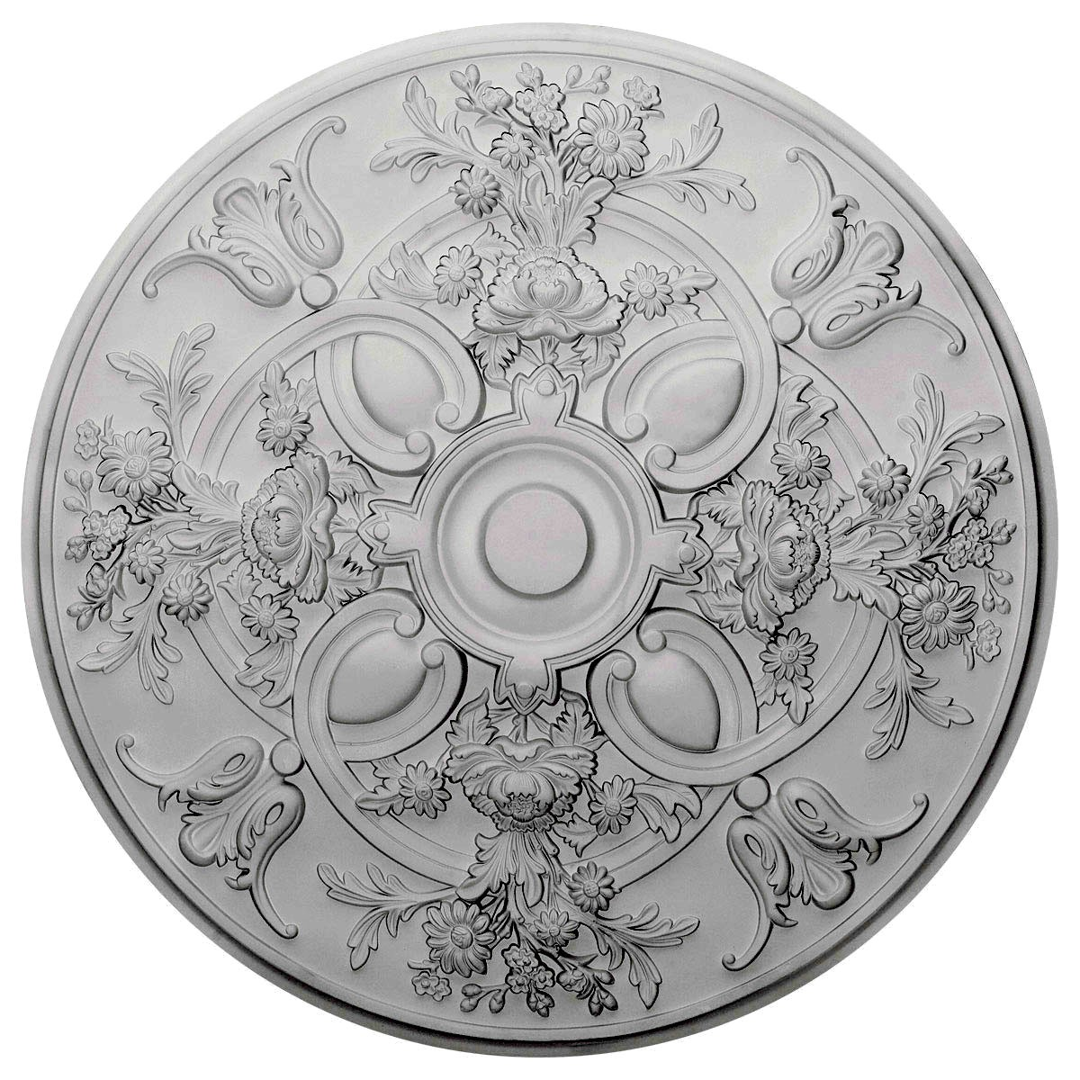 """EM-CM31BA - 31 1/4""""OD x 2 1/4""""P Baile Ceiling Medallion (Fits Canopies up to 6"""")"""