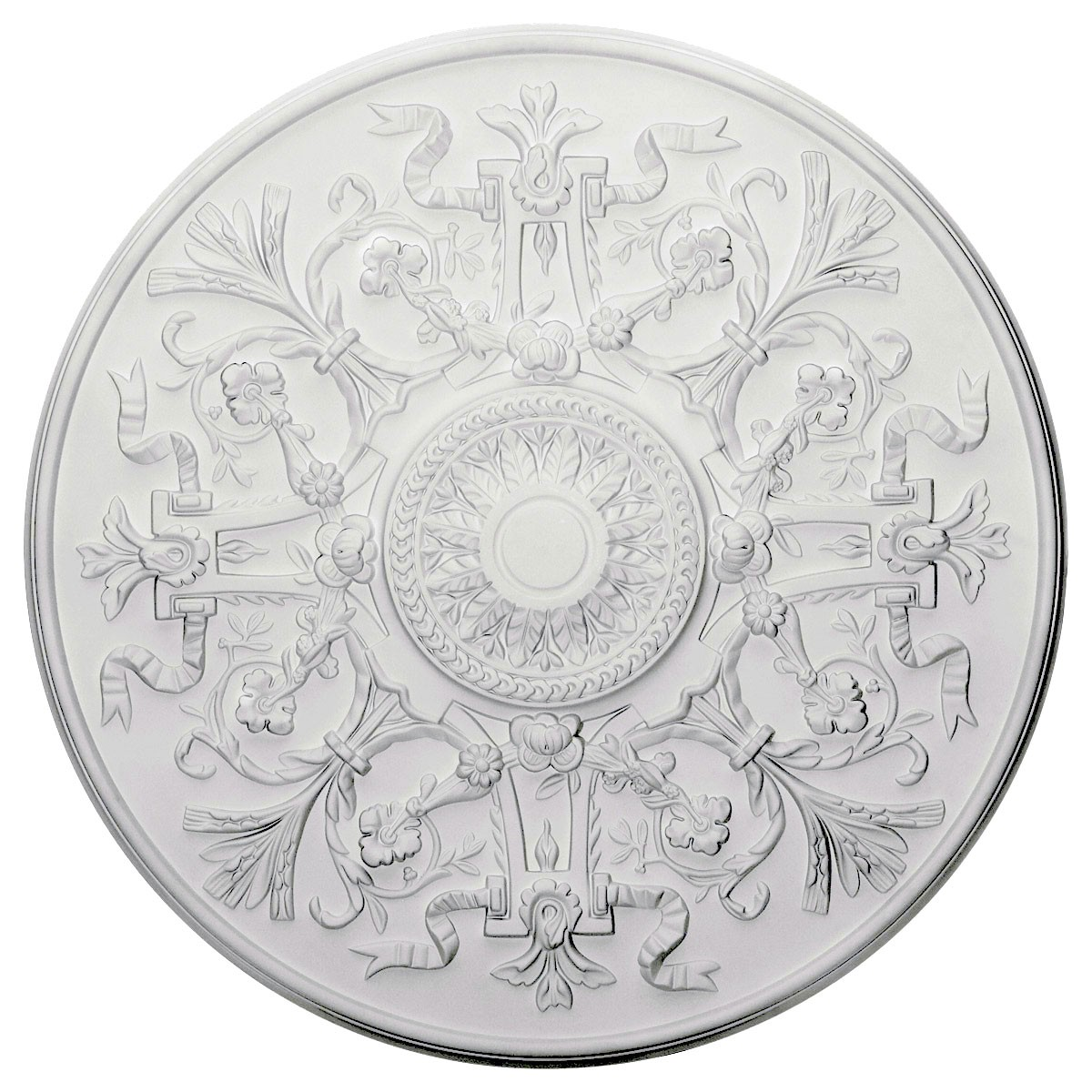 """EM-CM33VE - 33""""OD x 1 3/4""""P Versailles Ceiling Medallion (Fits Canopies up to 3 1/4"""")"""