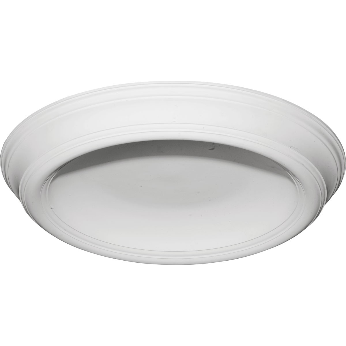 """EM-DOME37TR - 37 3/8""""OD x 26 1/2""""ID x 4""""D Traditional Smooth Surface Mount Ceiling Dome"""