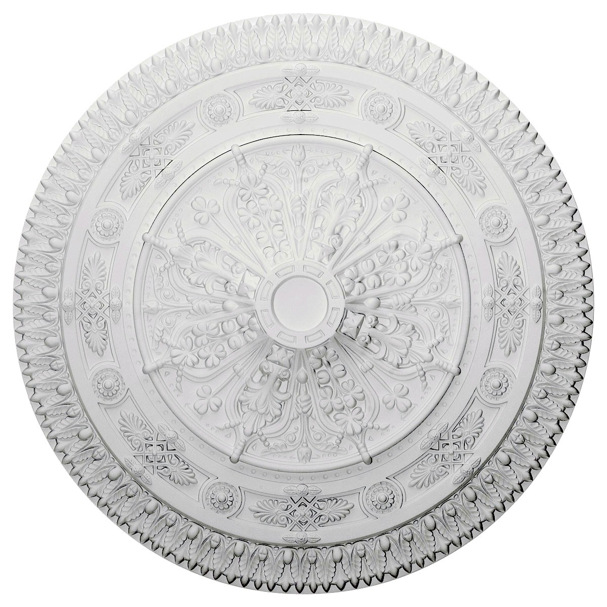 """EM-CM37NA - 37 1/2""""OD x 3 3/8""""P Naple Ceiling Medallion (Fits Canopies up to 3 3/8"""")"""