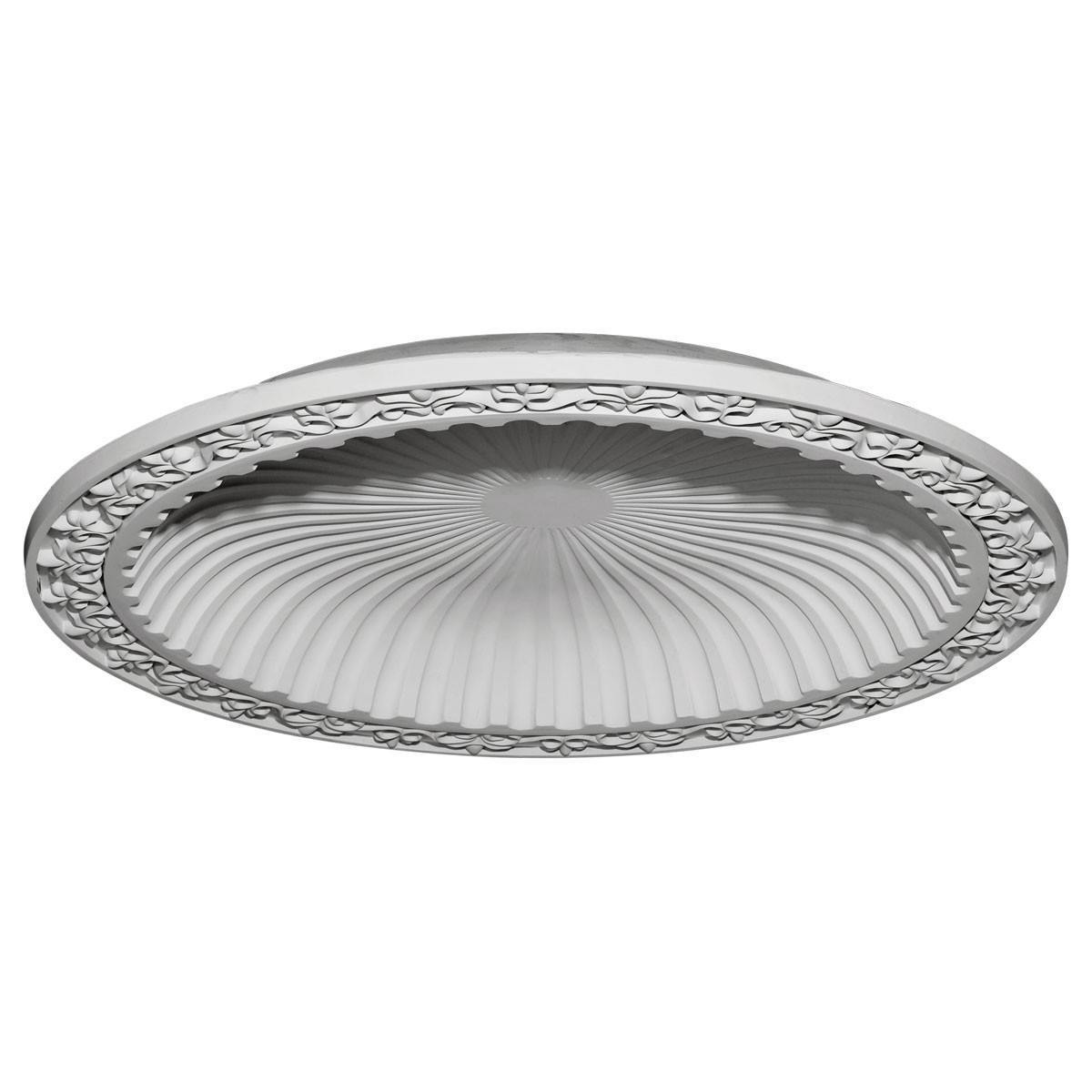 "EM-DOME47MI - 47""OD x 38 3/8""ID x 5 1/4""D Milton Recessed Mount Ceiling Dome (41"" Diameter x  4 5/8""D Rough Opening)"