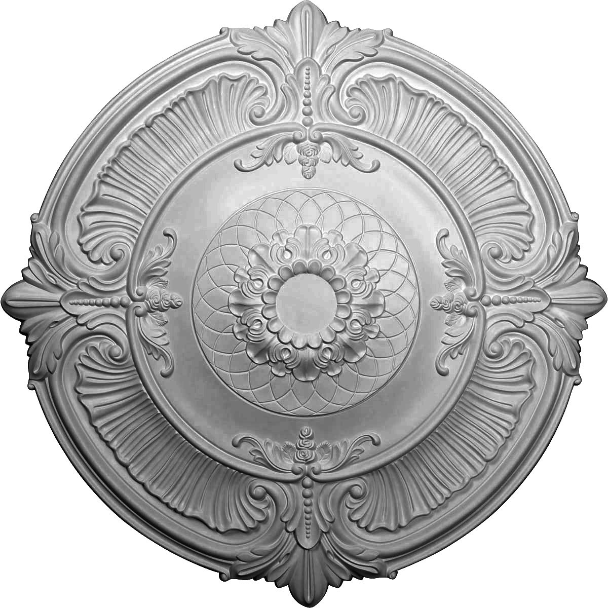 """EM-CM39AT - 39 1/2""""OD x 2 1/2""""P Attica Ceiling Medallion (Fits Canopies up to 3 3/4"""")"""
