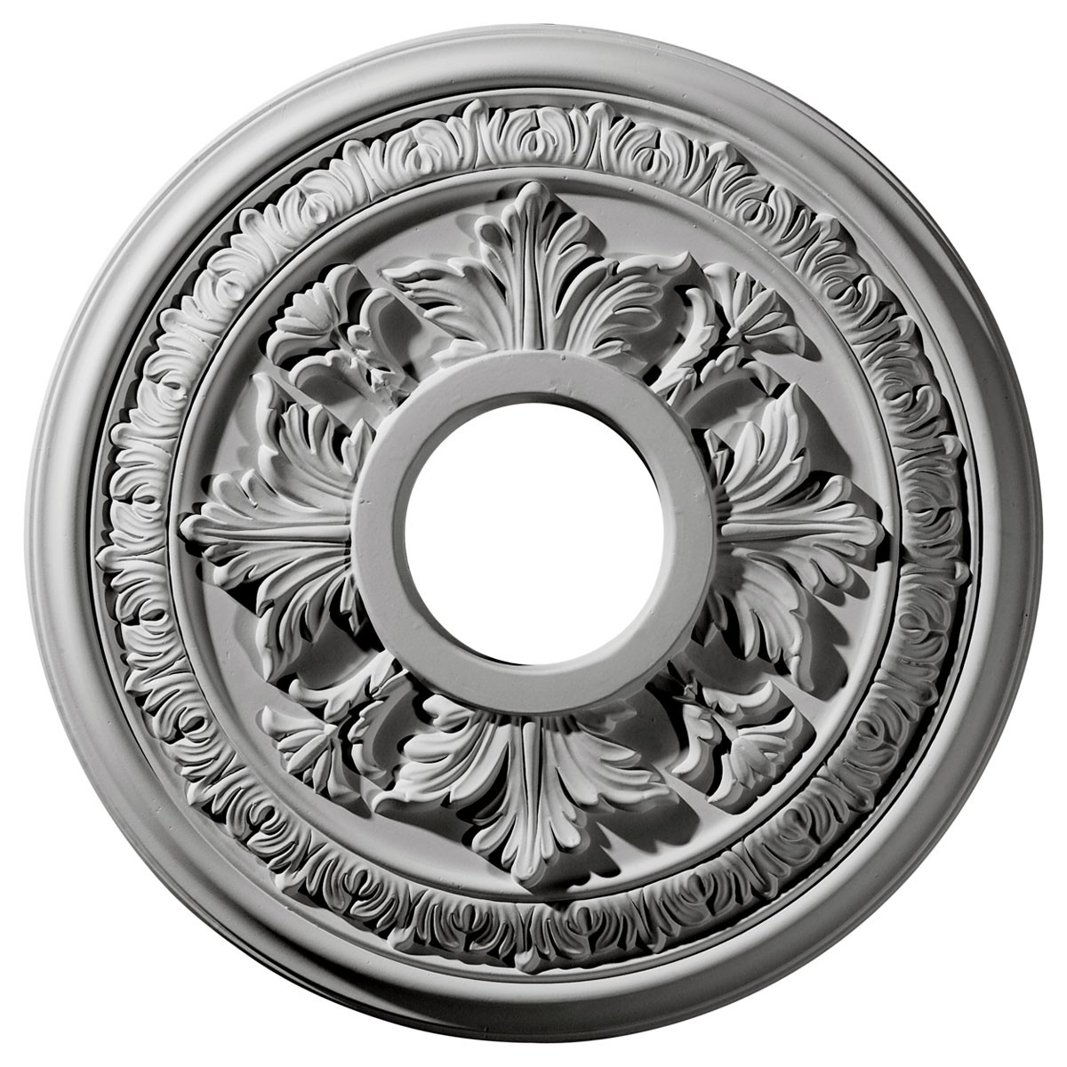 "EM-CM15BA - 15 3/8""OD x 4 1/4""ID x 1 1/2""P Baltimore Ceiling Medallion (Fits Canopies up to 5 1/2"")"