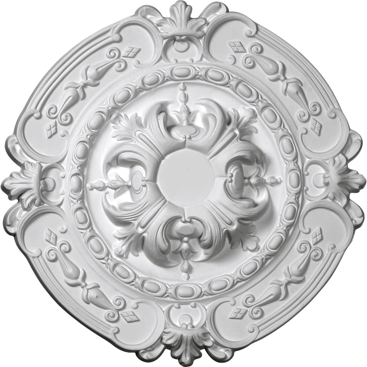 "EM-CM17SO - 16 3/8""OD x 1 3/4""P Southampton Ceiling Medallion (Fits Canopies up to 2 3/4"")"
