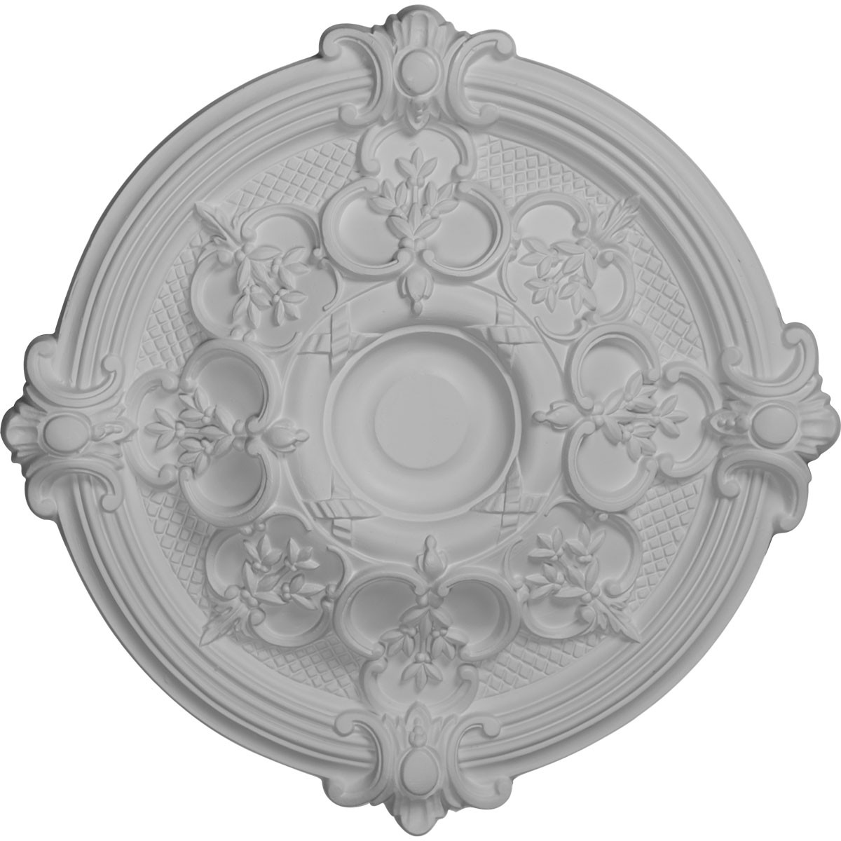 "EM-CM17HA - 17 3/8""OD x 1 3/4""P Hamilton Ceiling Medallion (Fits Canopies up to 3 3/4"")"