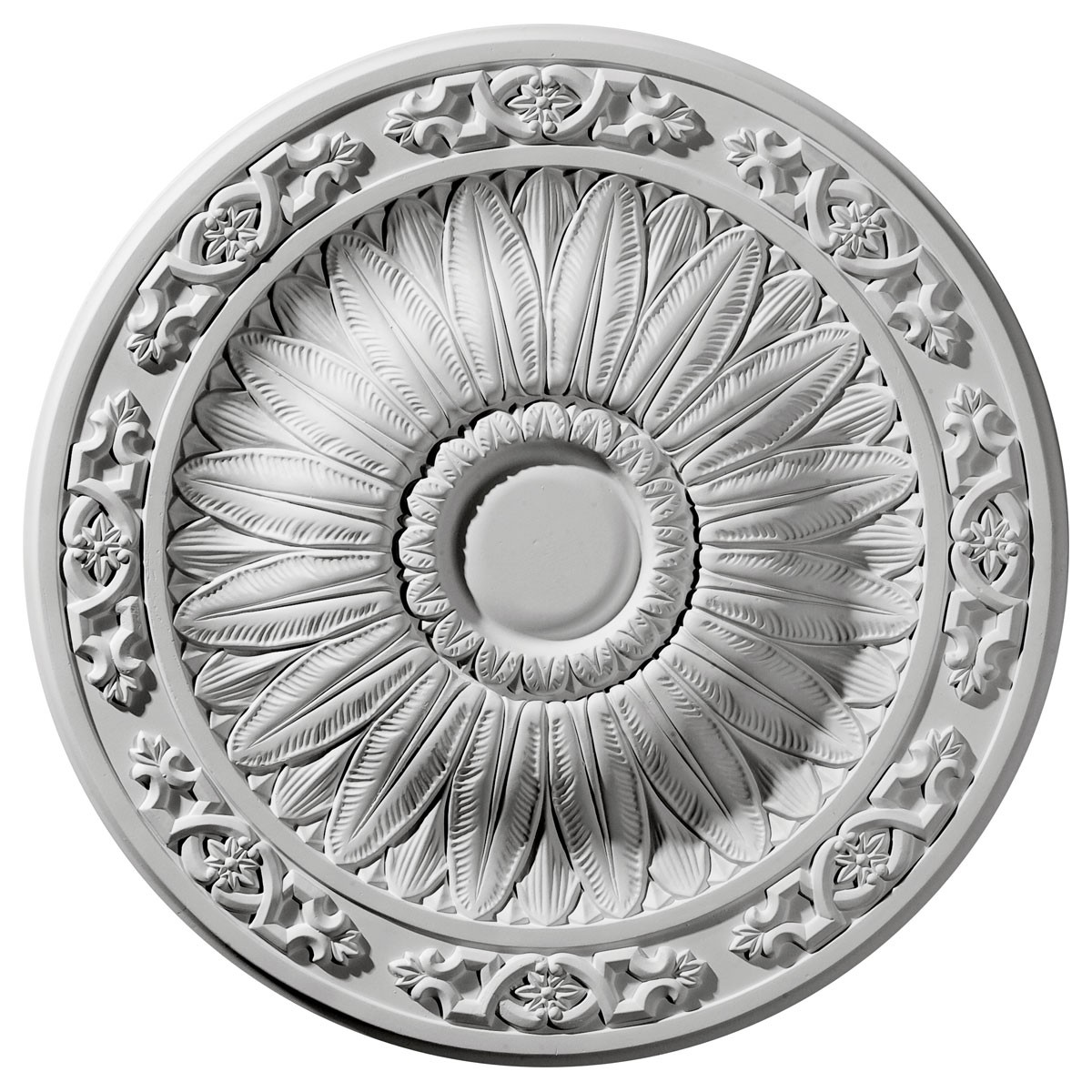 "EM-CM20LU - 20 1/4""OD x 1 1/2""P Lunel Ceiling Medallion (Fits Canopies up to 3 3/4"")"