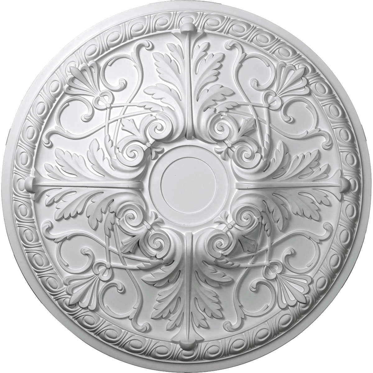 """EM-CM26TN - 26""""OD x 3""""P Tristan Ceiling Medallion (Fits Canopies up to 5 1/2"""")"""