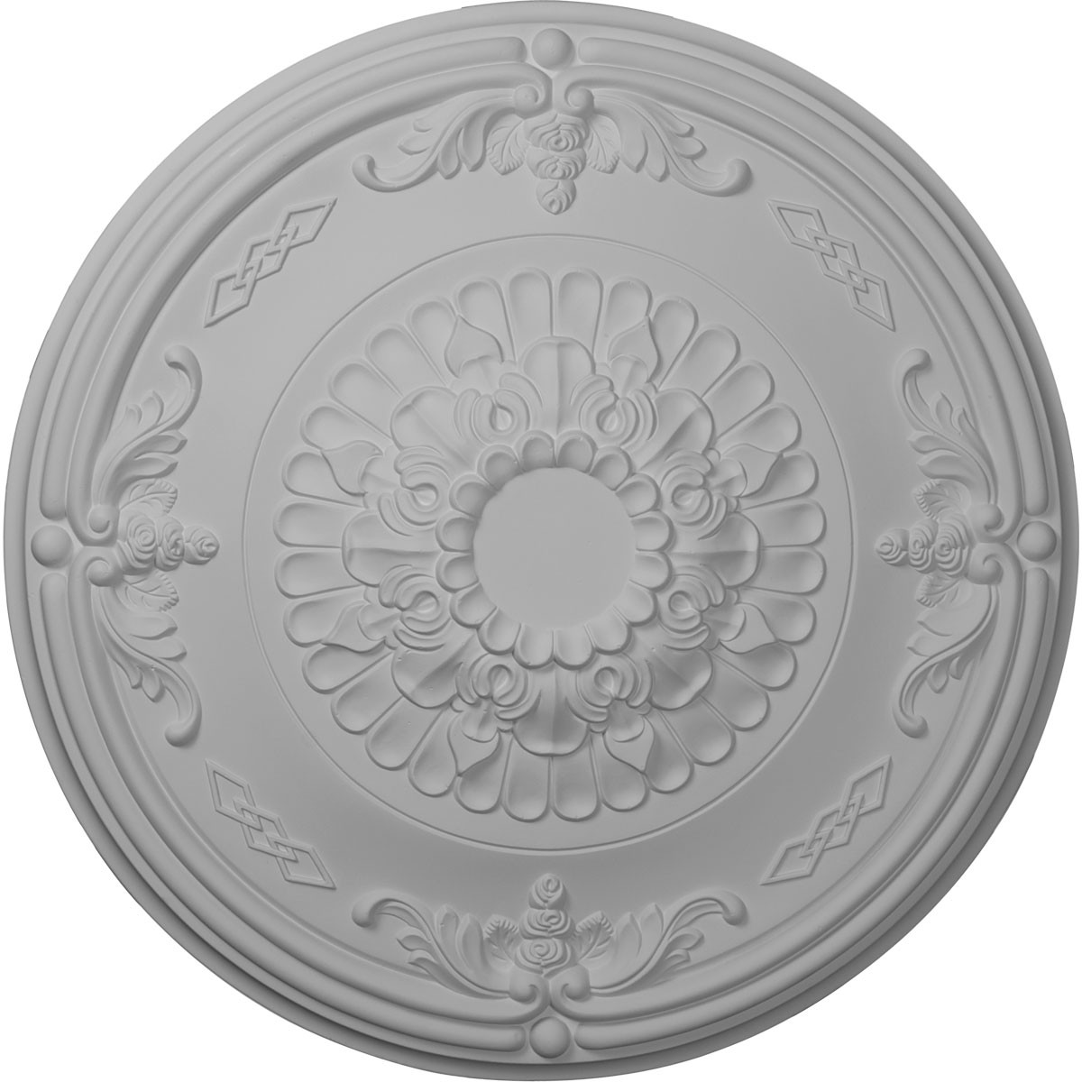 """EM-CM27AT - 26 1/4""""OD x 3 1/4""""P Athens Ceiling Medallion (Fits Canopies up to 3 5/8"""")"""
