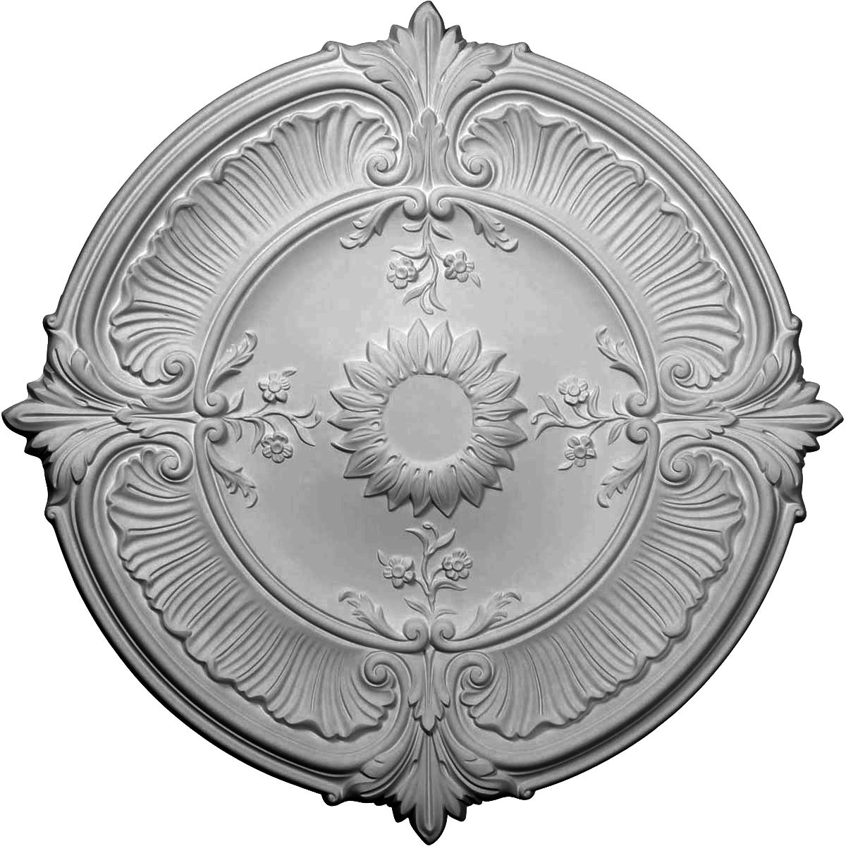"""EM-CM30AT - 30 1/8""""OD x 1 1/2""""P Attica Acanthus Leaf Ceiling Medallion (Fits Canopies up to 3 1/4"""")"""