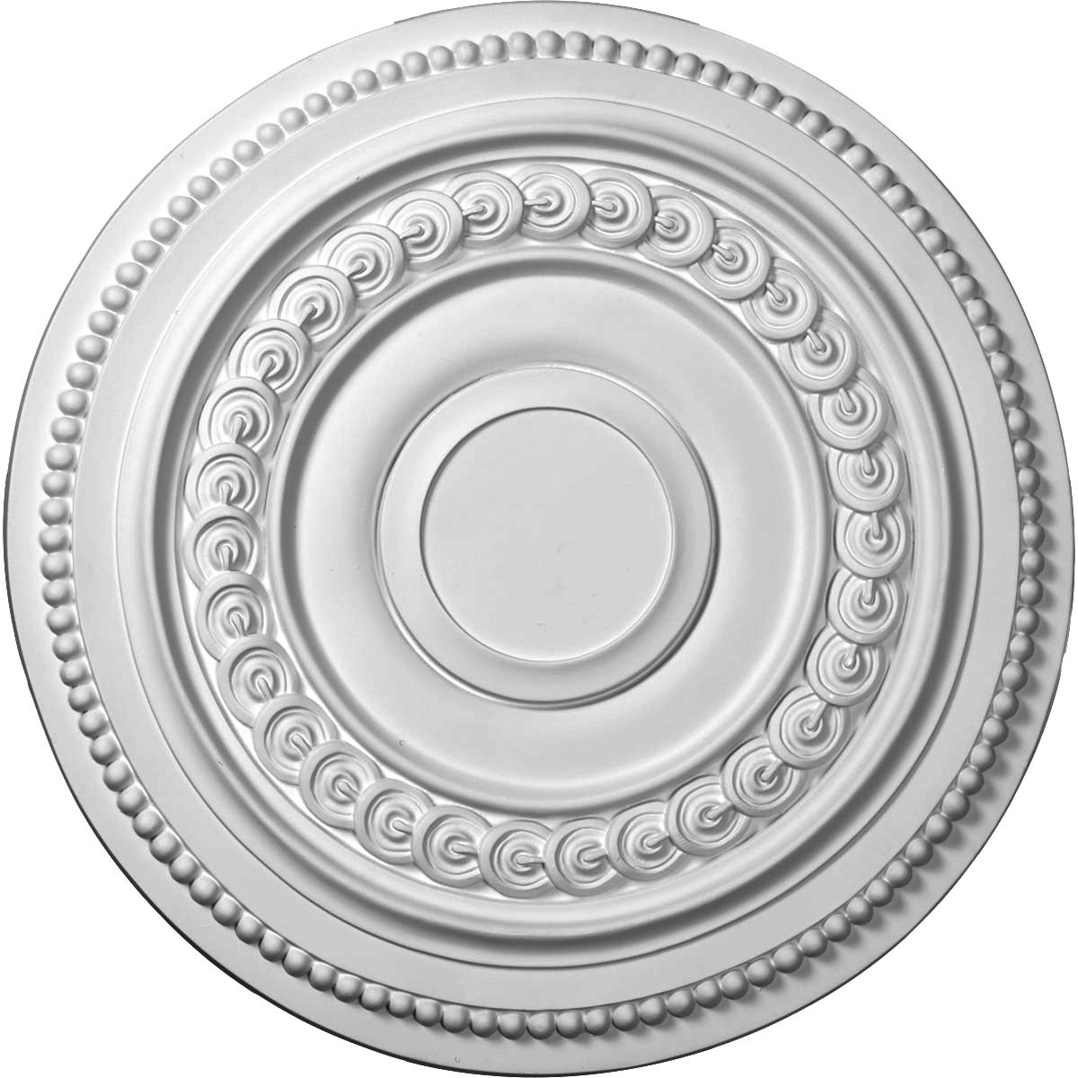 """EM-CM18OL - 18""""OD x 1 1/4""""P Oldham Ceiling Medallion (Fits Canopies up to 8 5/8"""")"""
