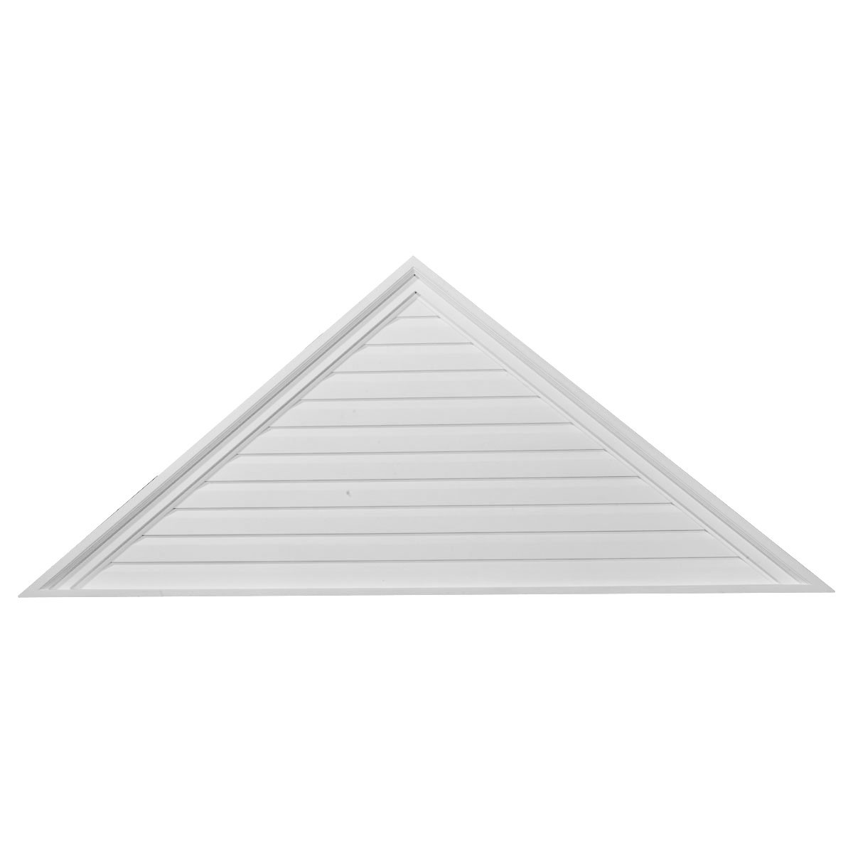 """EM-GVTR72X21F - 72""""W x 21""""H x 2 1/4""""P,  Pitch 7/12 Triangle Gable Vent, Functional"""
