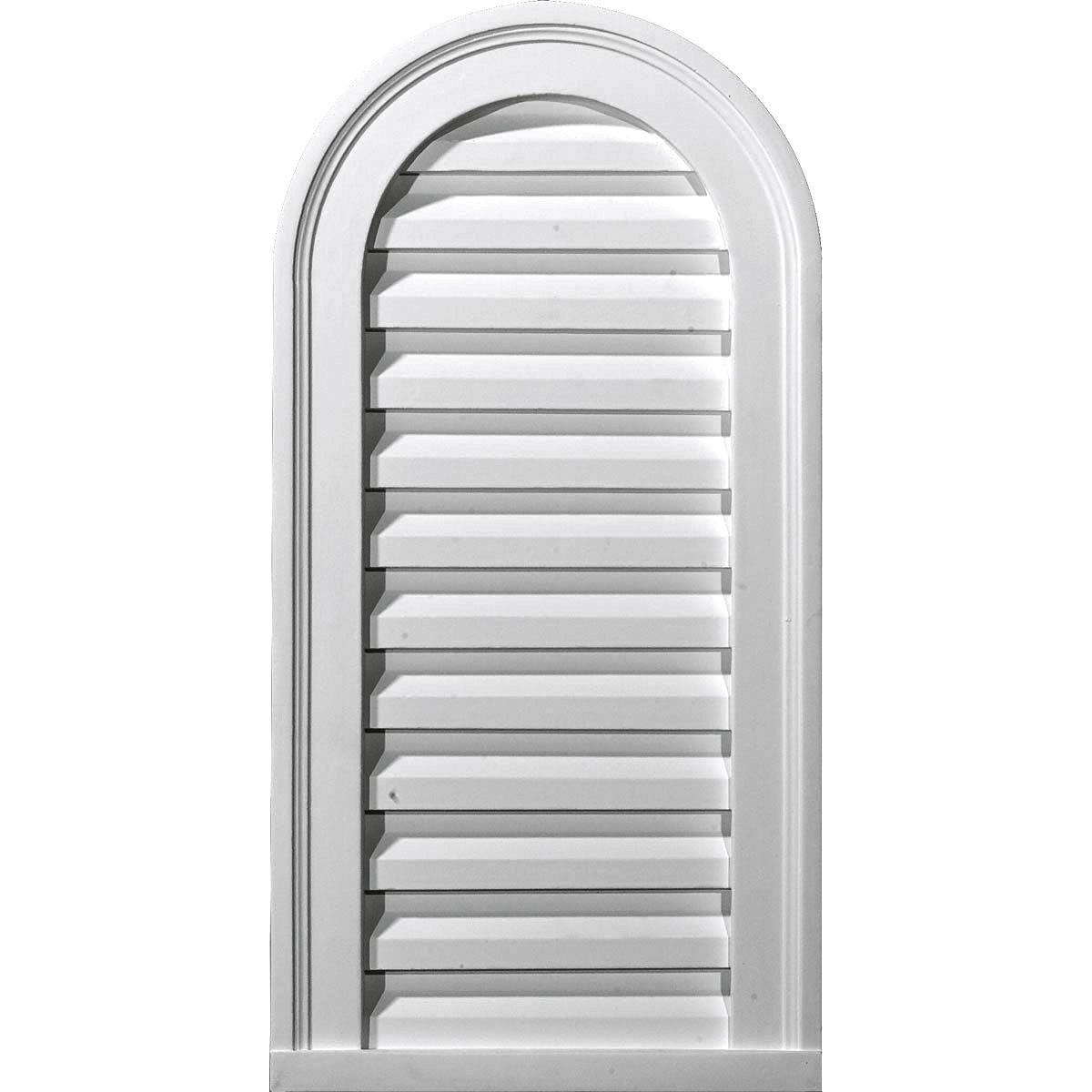 """EM-GVCA12X24F - 12""""W x 24""""H x 1 7/8""""P, Cathedral Gable Vent Louver, Functional"""