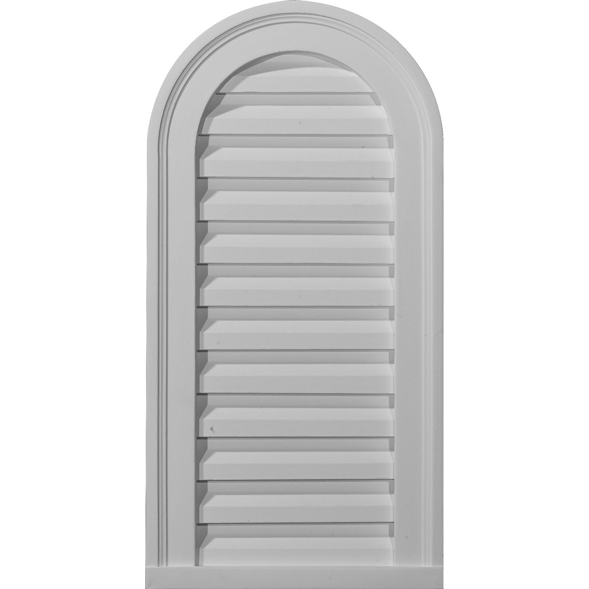 """EM-GVCA22X32F - 22""""W x 32""""H x 2 3/8""""P, Cathedral Gable Vent Louver, Functional"""
