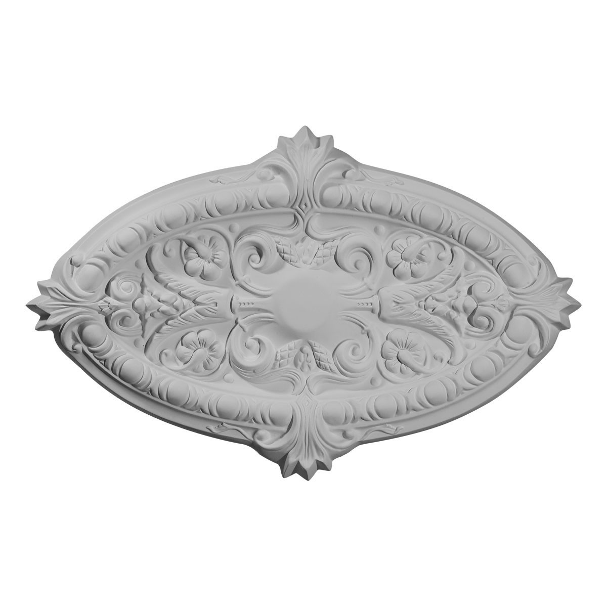"""EM-CM26MR - 26 3/8""""W x 17 1/4""""H x 1 3/4""""P Marcella Ceiling Medallion (Fits Canopies up to 3"""")"""