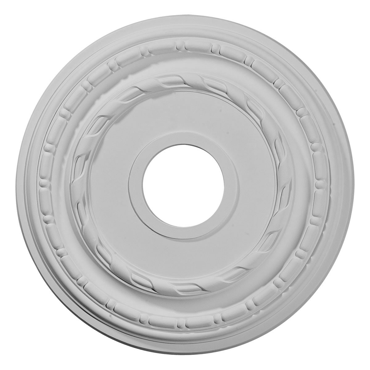 "EM-CM15DU - 15 3/8""OD x 3 5/8""ID x 1""P Dublin Ceiling Medallion (Fits Canopies up to 8 1/4"")"