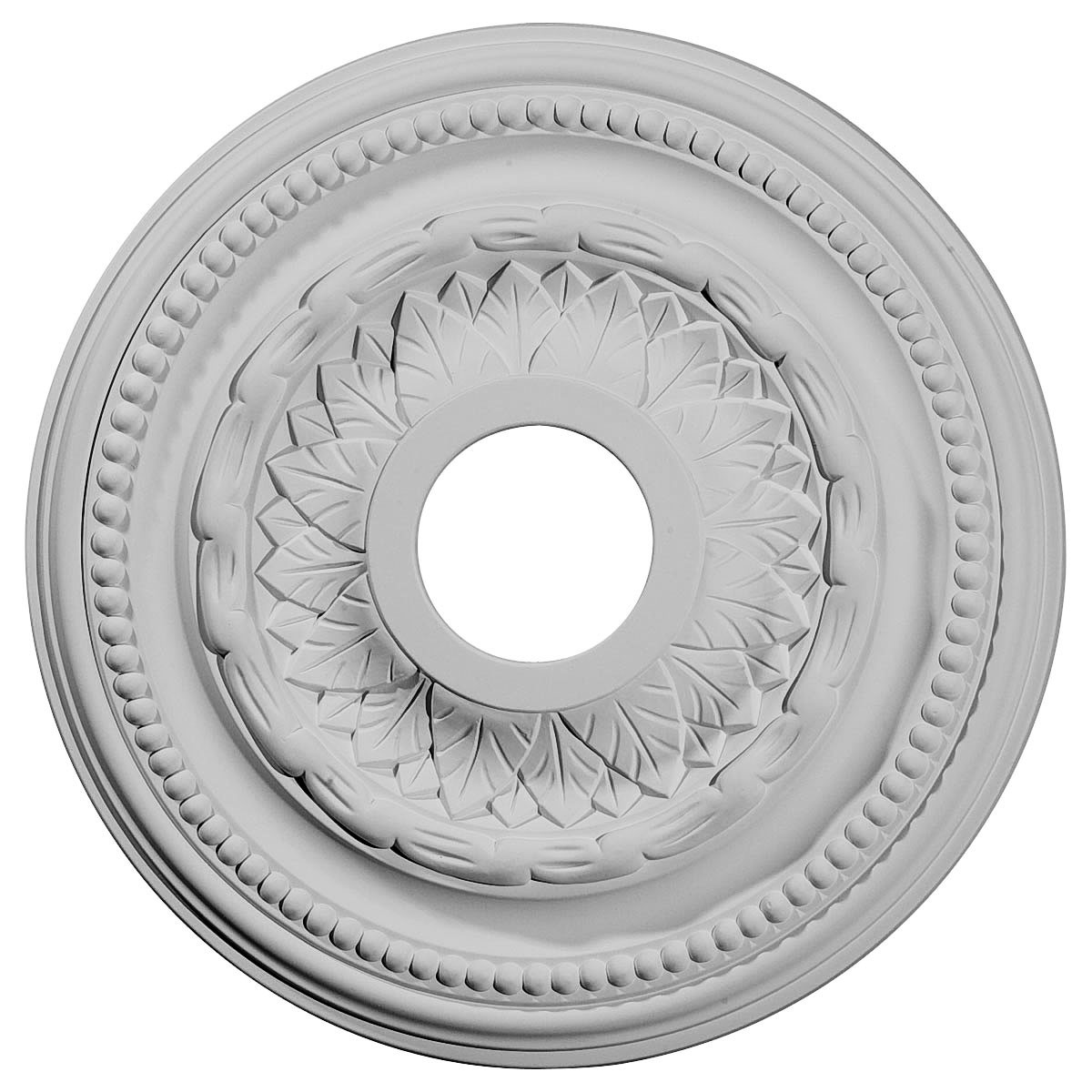 """EM-CM15GA - 15 3/4""""OD x 3 1/4""""ID x 1""""P Galway Ceiling Medallion (Fits Canopies up to 3 1/4"""")"""