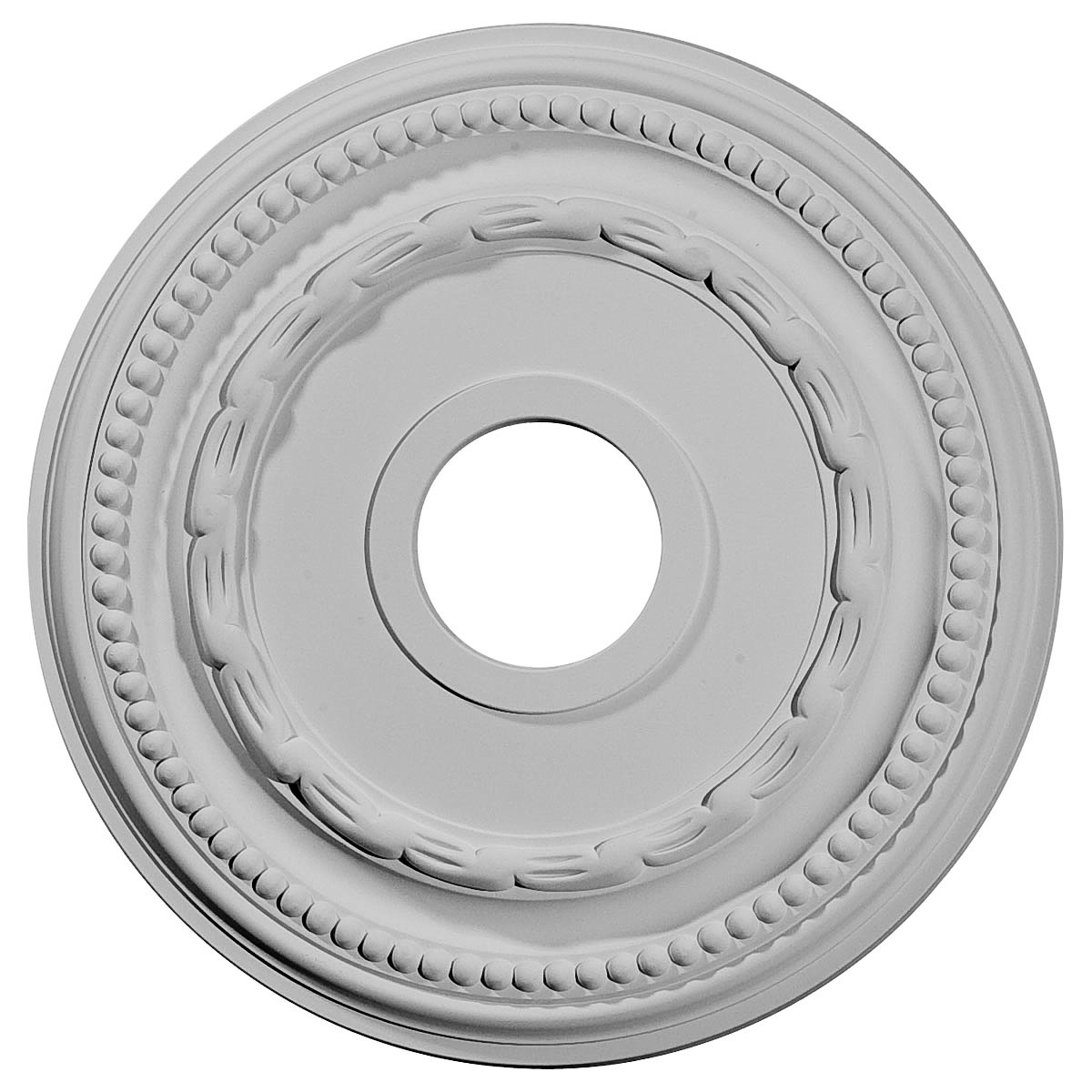 """EM-CM15FE - 15 3/8""""OD x 3 5/8""""ID x 1""""P Federal Ceiling Medallion (Fits Canopies up to 8 1/2"""")"""