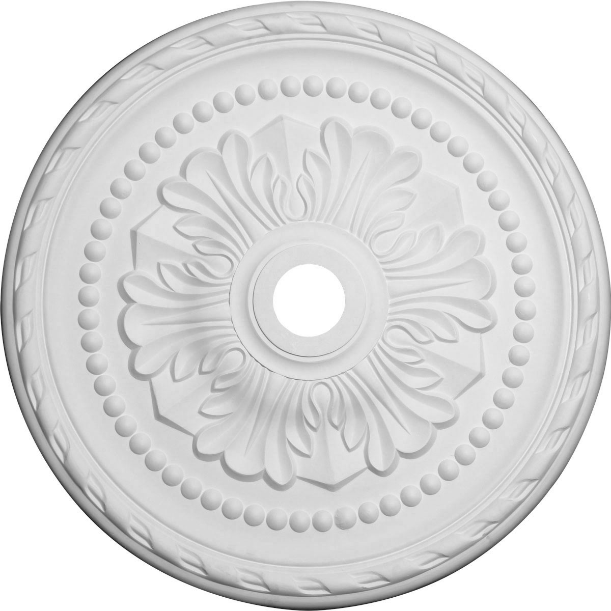 """EM-CM31PM - 31 1/2""""OD x 3 5/8""""ID x 1 3/4""""P Palmetto Ceiling Medallion (Fits Canopies up to 7 5/8"""")"""
