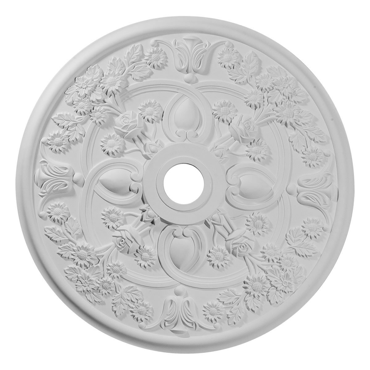 """EM-CM30RO - 30 7/8""""OD x 3 5/8""""ID x 1 3/8""""P Rose Ceiling Medallion (Fits Canopies up to 5 1/4"""")"""