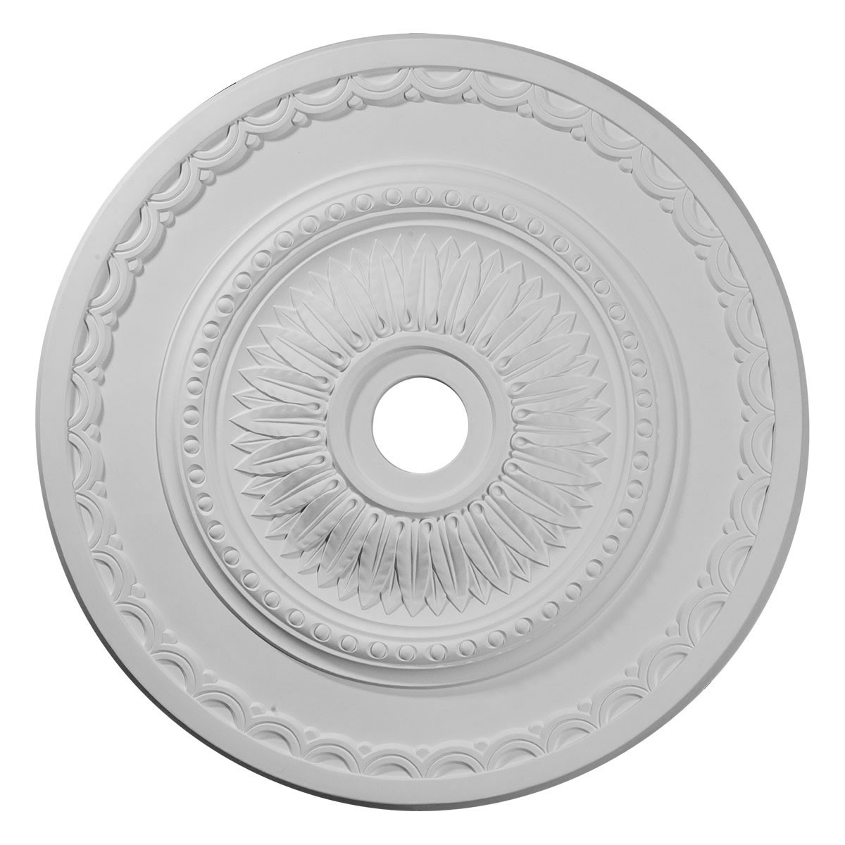"""EM-CM29SF - 29 1/2""""OD x 3 5/8""""ID x 1 5/8""""P Sunflower Ceiling Medallion (Fits Canopies up to 5 5/8"""")"""