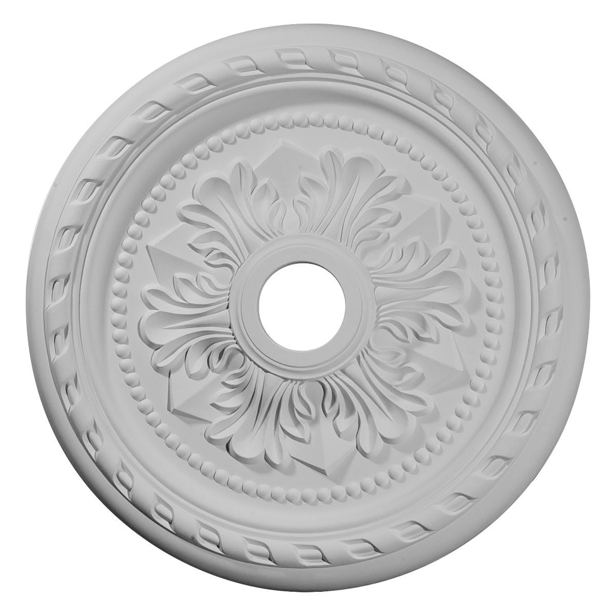 """EM-CM23PM - 23 5/8""""OD x 3 5/8""""ID x 1 5/8""""P Palmetto Ceiling Medallion (Fits Canopies up to 3 5/8"""")"""