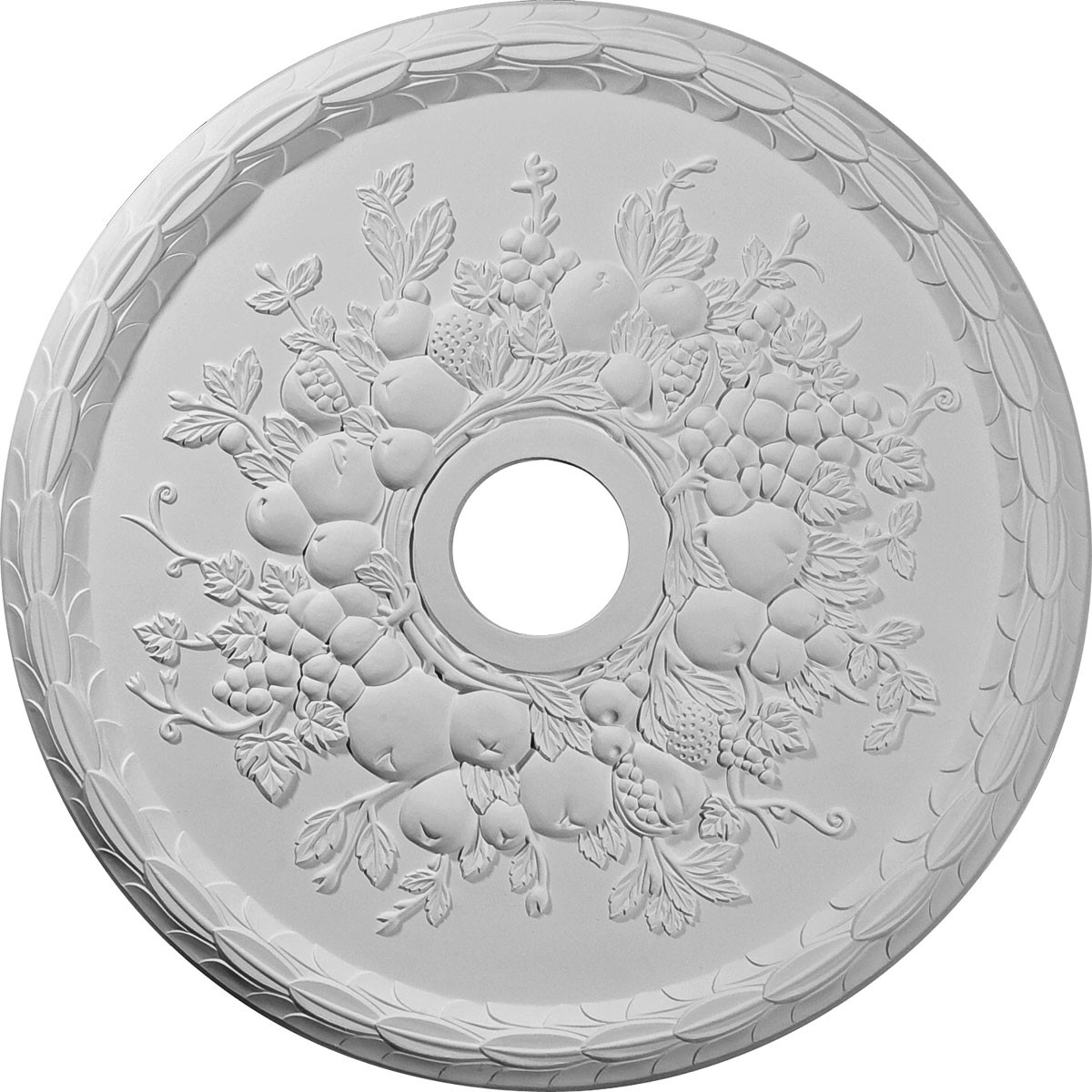 """EM-CM22GR - 22 5/8""""OD x 3 5/8""""ID x 5/8""""P Grape Ceiling Medallion (Fits Canopies up to 3 5/8"""")"""
