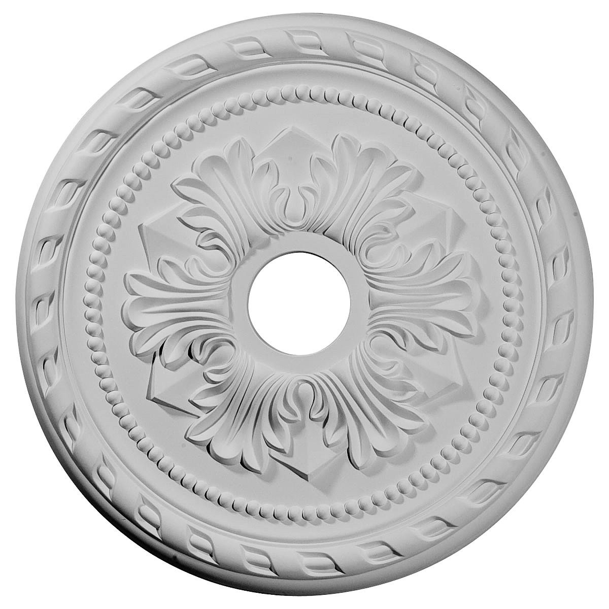 "EM-CM20PM - 20 7/8""OD x 3 5/8""ID x 1 5/8""P Palmetto Ceiling Medallion (Fits Canopies up to 5"")"