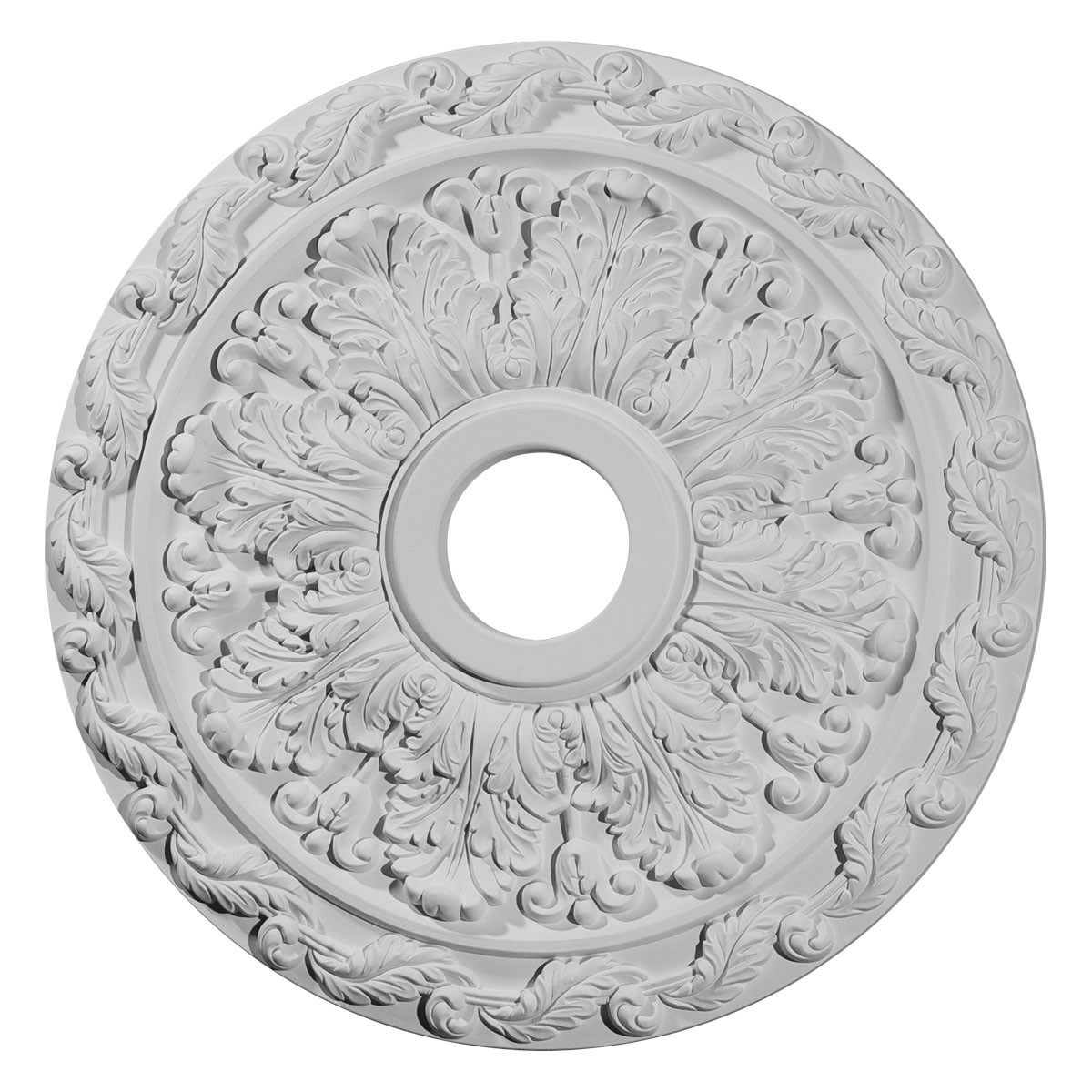 """EM-CM19SP - 19 7/8""""OD x 3 5/8""""ID x 1 1/4""""P Spring Leaf Ceiling Medallion (Fits Canopies up to 5 5/8"""")"""