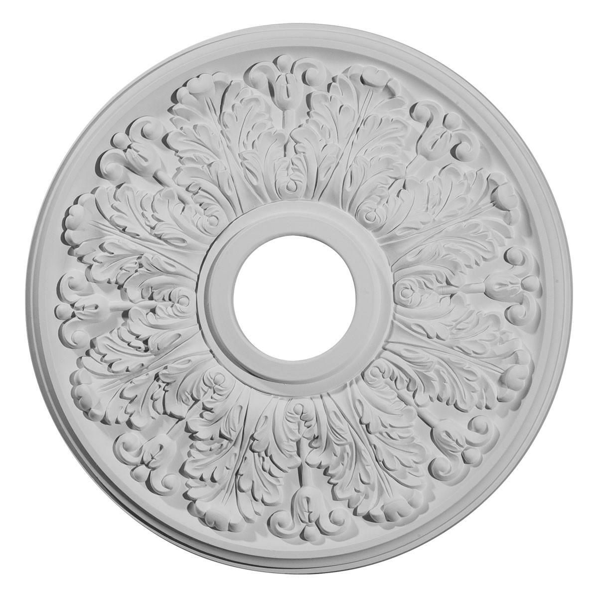 """EM-CM16AP - 16 1/2""""OD x 3 5/8""""ID x 1 1/8""""P Apollo Ceiling Medallion (Fits Canopies up to 5 5/8"""")"""