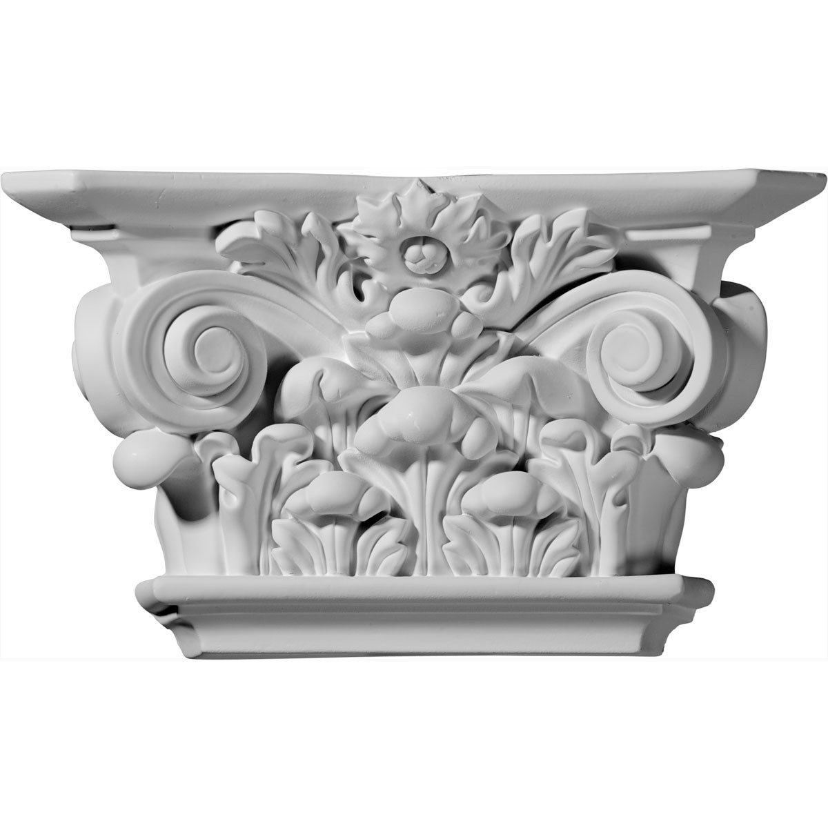 "EM-CAP10X06X03AC - 10 1/2""W x 6 1/8""H x 3""D Acanthus Leaf Capital (Fits Pilasters up to 6 3/4""W x 1""D)"