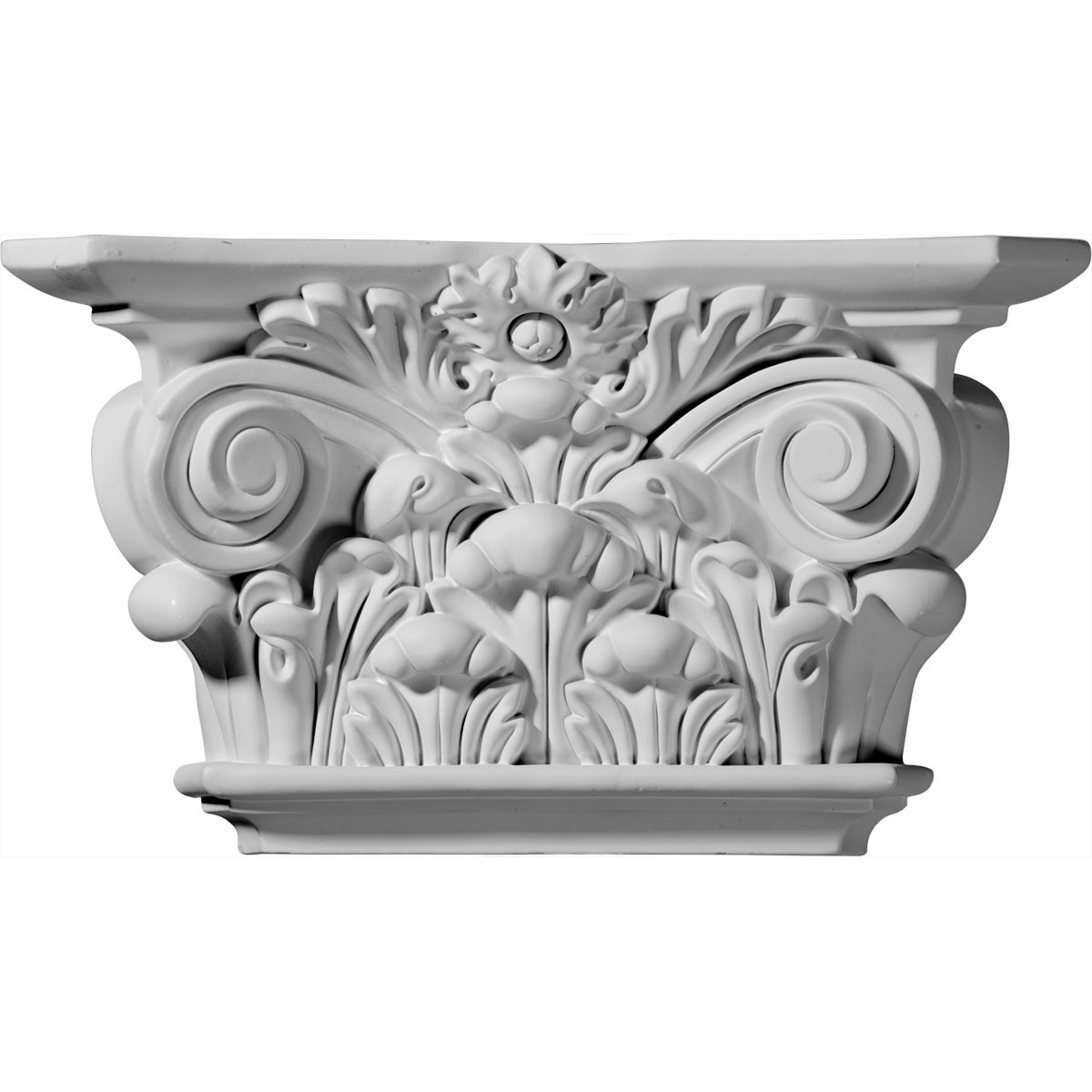 """EM-CAP12X06X03AC - 12 1/4""""W x 6 7/8""""H x 3 1/2""""D Acanthus Leaf Capital (Fits Pilasters up to 6 5/8""""W x 1 1/8""""D)"""