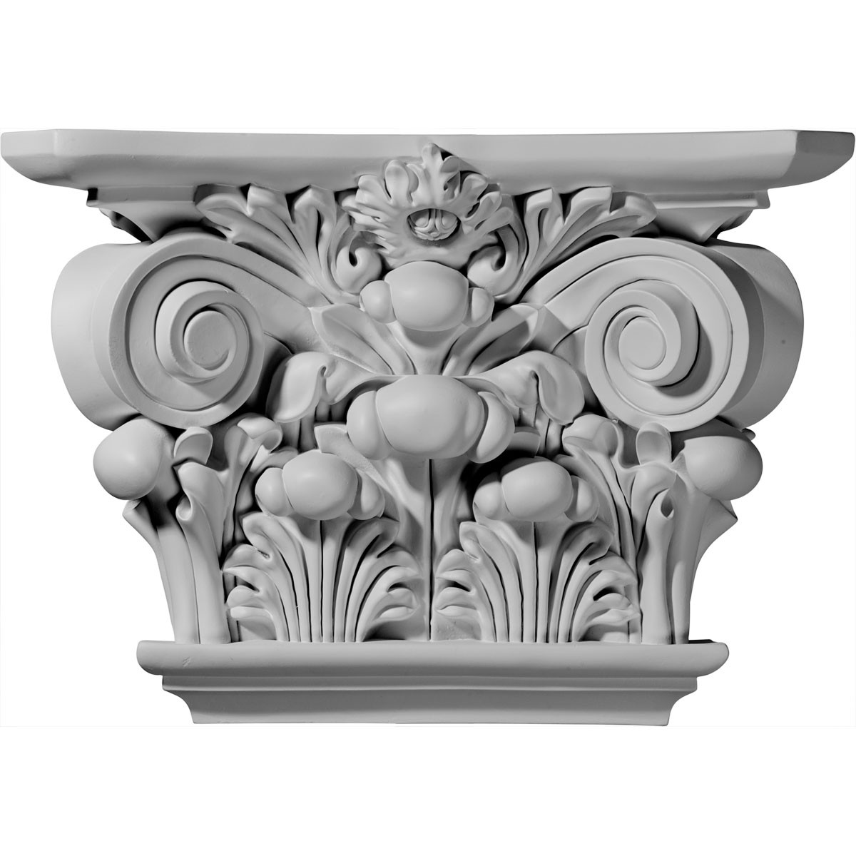 "EM-CAP17X11X05AC - 17 1/2""W x 11 7/8""H x 5 1/4""D Acanthus Leaf Capital (Fits Pilasters up to 9 5/8""W x 2""D)"